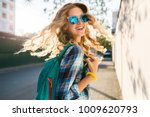 portrait of stylish smiling... | Shutterstock . vector #1009620793