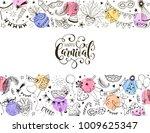 horisontal carnival vector... | Shutterstock .eps vector #1009625347