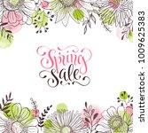 spring sale. spring wording... | Shutterstock .eps vector #1009625383