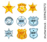 collection of different sheriff ... | Shutterstock .eps vector #1009629073