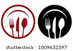 modern restaurant icons with... | Shutterstock . vector #1009632397