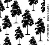 seamless pattern  acacia tree ... | Shutterstock .eps vector #1009636867