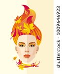 vector abstract image of autumn ... | Shutterstock .eps vector #1009646923