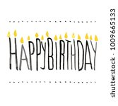 vector happy birthday card...   Shutterstock .eps vector #1009665133