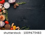 vegetables  herbs and spices... | Shutterstock . vector #1009675483