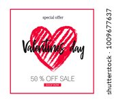 valentines day sale background ... | Shutterstock .eps vector #1009677637