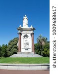 Small photo of Melbourne, Australia: March 18, 2017: Queen Victoria monument in Queen Victoria Gardens. Located between St Kilda Road and Alexandra Avenue.