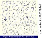 vector hand drawn arrows set... | Shutterstock .eps vector #100970167