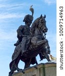 Small photo of DURHAM, COUNTY DURHAM/UK - JANUARY 19 : Lord Londonderry Statue in Market Place Square in Durham, County Durham on January 19, 2018