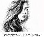 beautiful woman. fashion... | Shutterstock . vector #1009718467