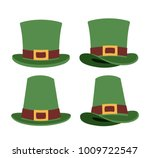 top hats set in colorful... | Shutterstock .eps vector #1009722547