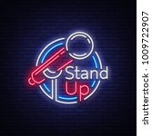 stand up comedy show is a neon... | Shutterstock .eps vector #1009722907