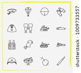 military line icon set military ... | Shutterstock .eps vector #1009733557