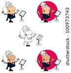 conductor man. vector collection | Shutterstock .eps vector #100973743