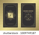 luxury business card and golden ... | Shutterstock .eps vector #1009749187