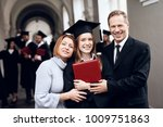 parents congratulate the... | Shutterstock . vector #1009751863