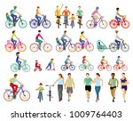 group of cyclists illustration | Shutterstock . vector #1009764403