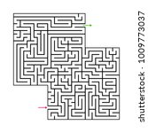 abstract maze labyrinth with...   Shutterstock .eps vector #1009773037