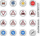 line vector icon set   sign... | Shutterstock .eps vector #1009785727