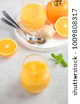 fresh healthy smoothie with... | Shutterstock . vector #1009808317
