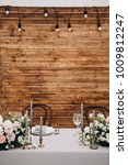 wedding couple's table with... | Shutterstock . vector #1009812247