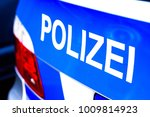 typical police vehicle in... | Shutterstock . vector #1009814923