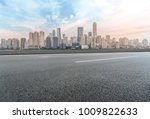 urban road square and skyline... | Shutterstock . vector #1009822633