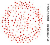 valentines day sale with red... | Shutterstock .eps vector #1009824013