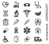 icons vector medical and... | Shutterstock .eps vector #1009826497