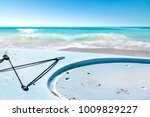 surfboard and summer time on... | Shutterstock . vector #1009829227