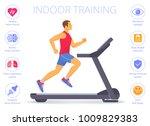 strong caucasian man is running ... | Shutterstock .eps vector #1009829383