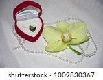Jewelry Heart Shape Red Box...