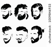 set of hairstyles for men in... | Shutterstock .eps vector #1009846933