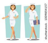 nurse   healthcare providers  ... | Shutterstock .eps vector #1009854157