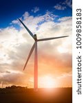wind turbine with straw bales...   Shutterstock . vector #1009858183
