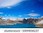 beautiful blue lake in high... | Shutterstock . vector #1009858237