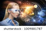 space  future technology and...   Shutterstock . vector #1009881787
