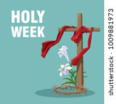 holy week catholic tradition | Shutterstock .eps vector #1009881973
