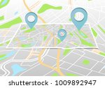 city map with marker pin.... | Shutterstock .eps vector #1009892947