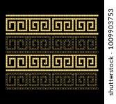 greek style ornamental... | Shutterstock .eps vector #1009903753