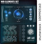 futuristic user interface. hud... | Shutterstock .eps vector #1009905163