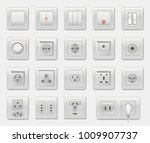 set of different switches... | Shutterstock .eps vector #1009907737