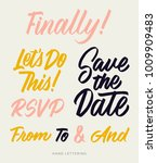 save the date. welcome. finally.... | Shutterstock .eps vector #1009909483