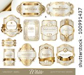 White Gold Framed Labels