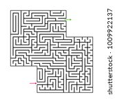 abstract maze labyrinth with...   Shutterstock .eps vector #1009922137