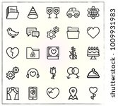 valentine's day line icons set...   Shutterstock .eps vector #1009931983