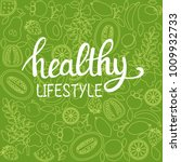 vector background healthy food... | Shutterstock .eps vector #1009932733