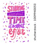 studying is not about time it's ... | Shutterstock .eps vector #1009940053