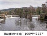 Crescent shape waterfall, Belper, Derbyshire