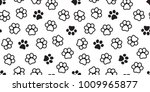 dog paw seamless pattern cat... | Shutterstock .eps vector #1009965877